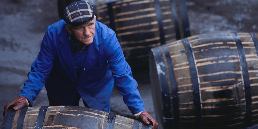 whiskey casks on whiskey tour scotland