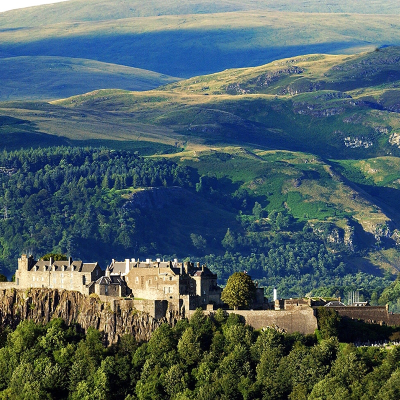 visiting Stirling castle on a private tour from edinburgh