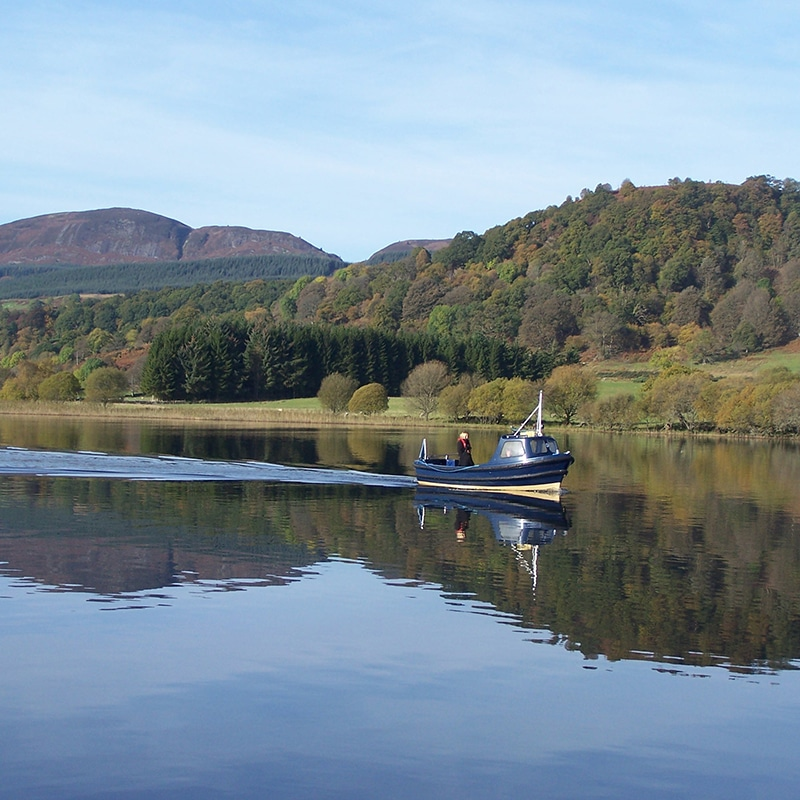 boat trip on lake of menteith Scotland
