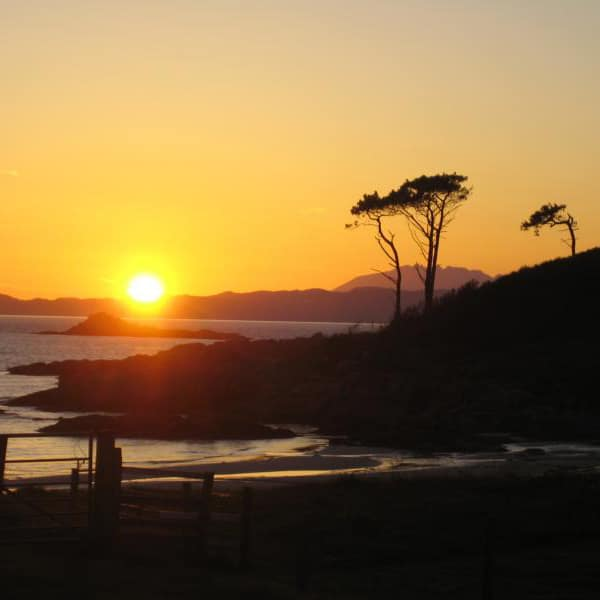 sunset over the beaches of Arisaig Scotland