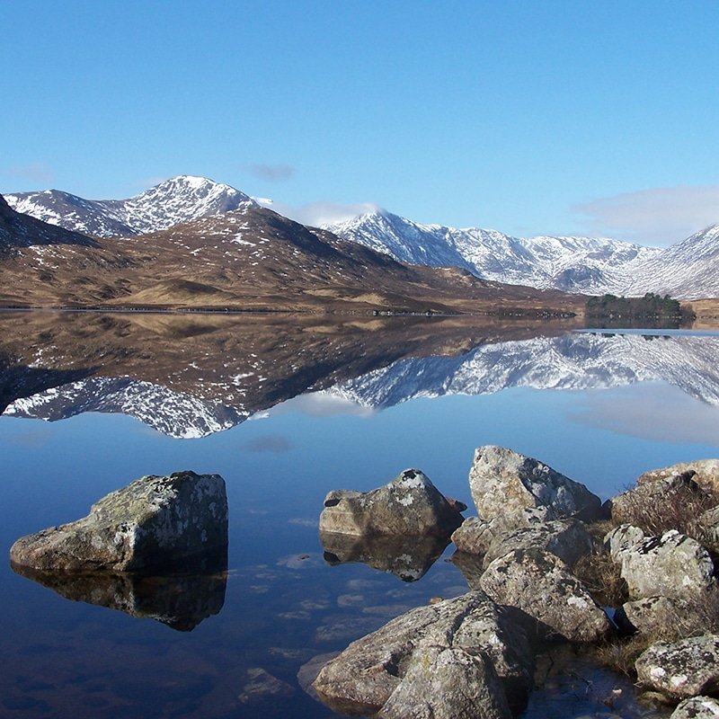 Blackmount mountain overlooking rannoch moor Scotland