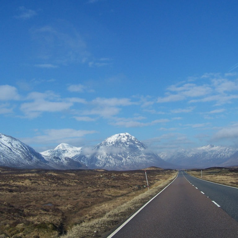 approaching Glencoe on Scotland highland tour