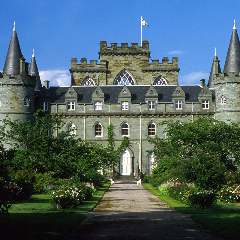 Inveraray Castle on west highland day tour from edinburgh