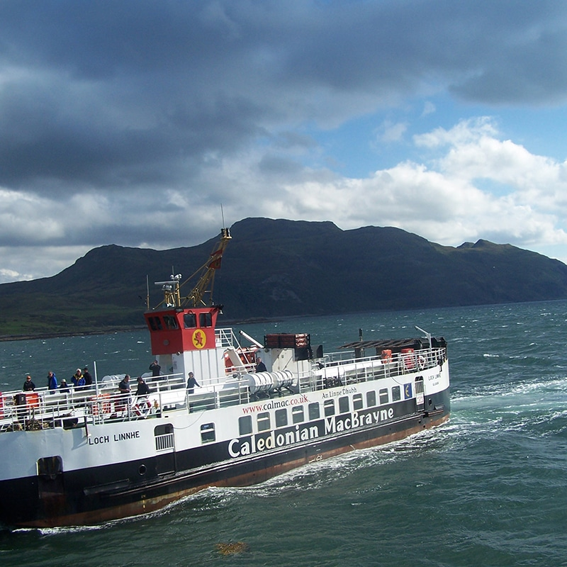 catching the ferry to Mull on Island Explorer tour Scotland