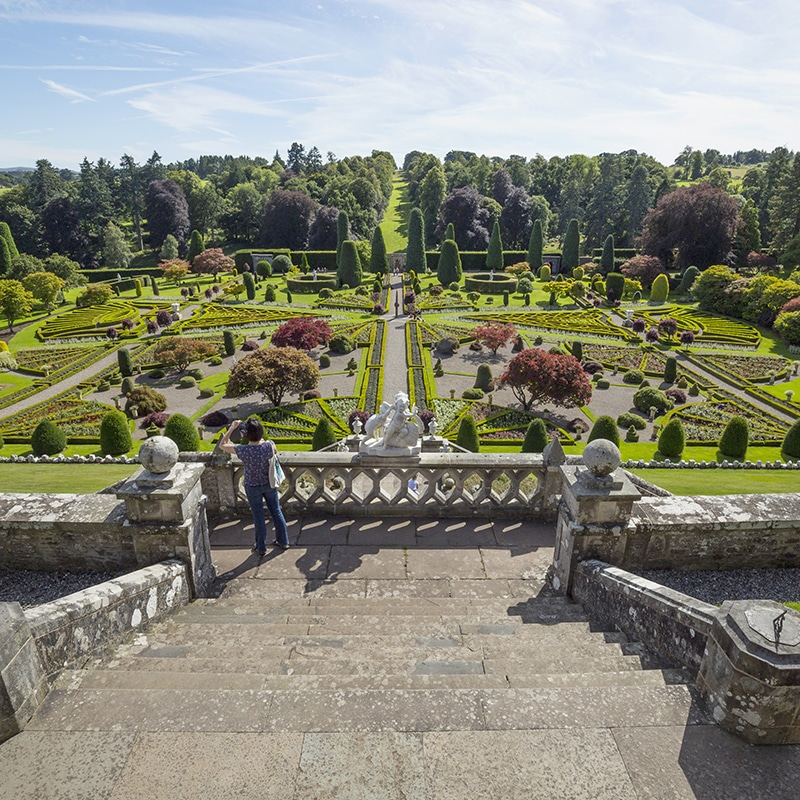 Drummond Gardens perthshire included on Outlander tour