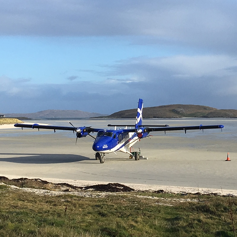 airport on barra beach blackrock scottish tours